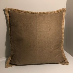 "Pottery Barn Burlap Woven Pillow Cover 20"" x 2"